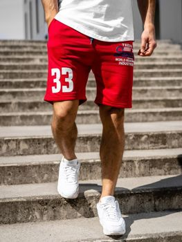 Чоловічі спортивні шорти, червоні Bolf EX06