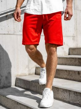 Чоловічі спортивні шорти, червоні Bolf KK301
