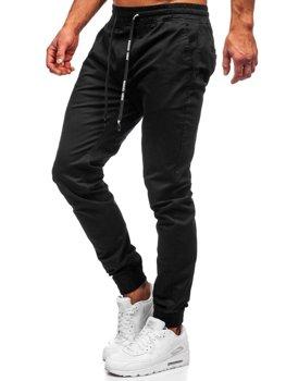 Чоловічі чорні штани джоггери Bolf KA951