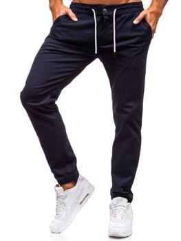 Чоловічі штани-джоггери темно-синій Bolf 1121