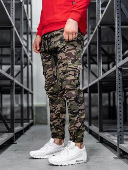 Чоловічі штани джогери карго зелені Bolf 0404