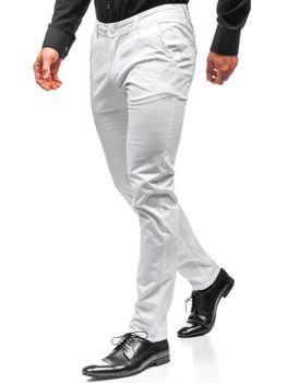 Чоловічі штани чинос білі Bolf 2901