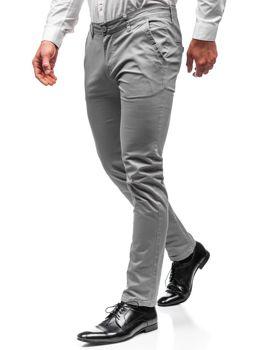 Чоловічі штани чинос сірі Bolf 2901