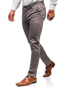 Чоловічі штани чінос сірі Bolf KA969