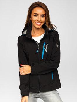 Чорна жіноча демісезонна куртка софтшелл Bolf AB003