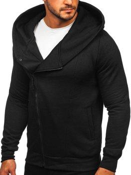 Чорна чоловіча толстовка з капюшоном Bolf 80680