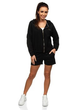 Чорний жіночий спортивний костюм Bolf 2062