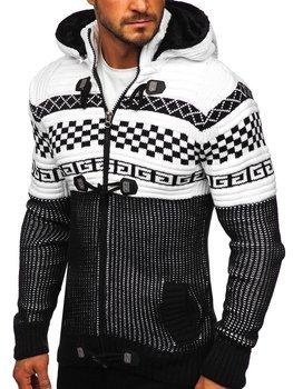Чорний чоловічий светр товстої в'язки Bolf 2061