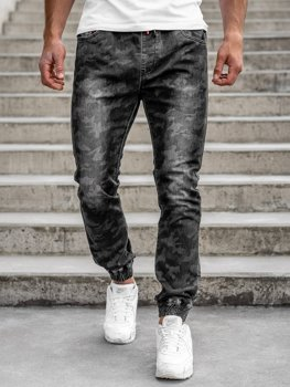 Чорні чоловічі камуфляжні штани джоггери Bolf RB9486DT