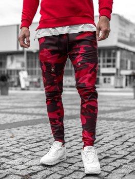 Штани чоловічі джоггери камуфляж-червоні Bolf 1003