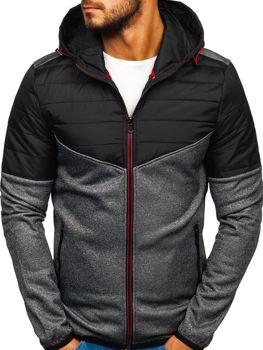 Чоловіча демісезонна спортивна куртка графітова Ks1891