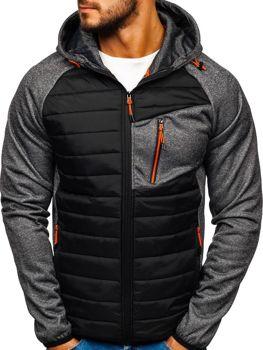 Чоловіча демісезонна спортивна куртка графітова Ks1893