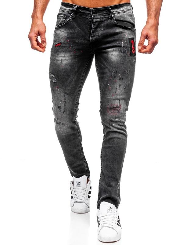 Джинси чоловічі regular fit чорні Bolf 4014