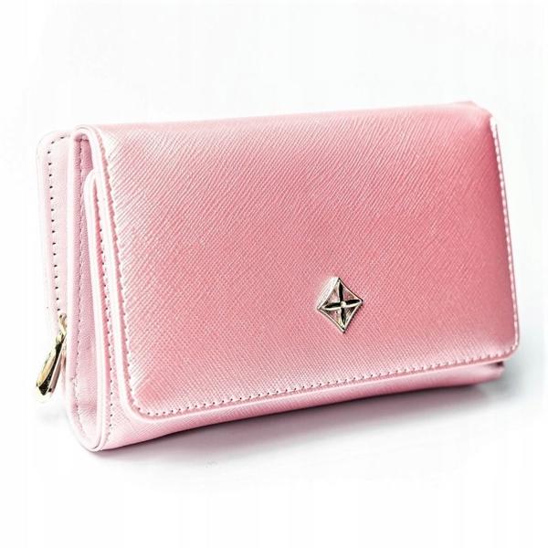 Жіночий гаманець з еко шкіри рожевий 2310