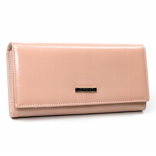 Жіночий шкіряний гаманець лосось 2858
