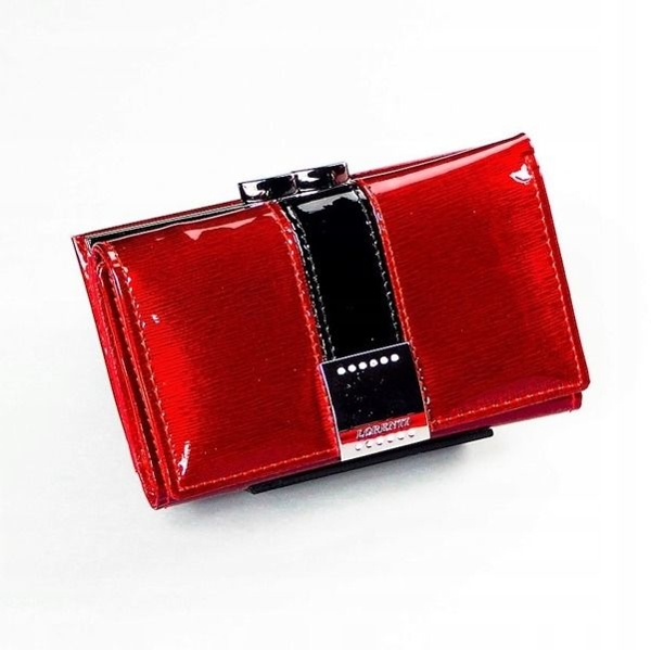 Жіночий шкіряний гаманець червоний 1216