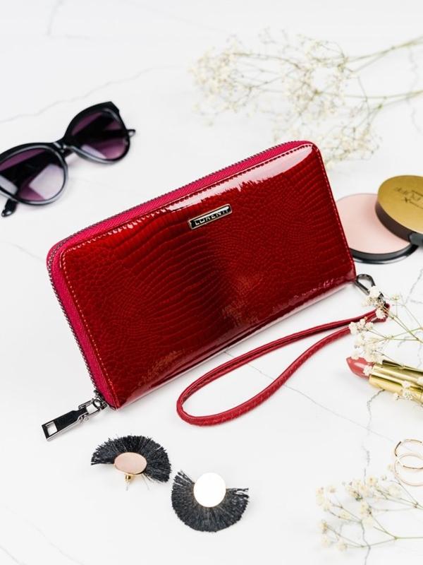 Жіночий шкіряний гаманець червоний 2084