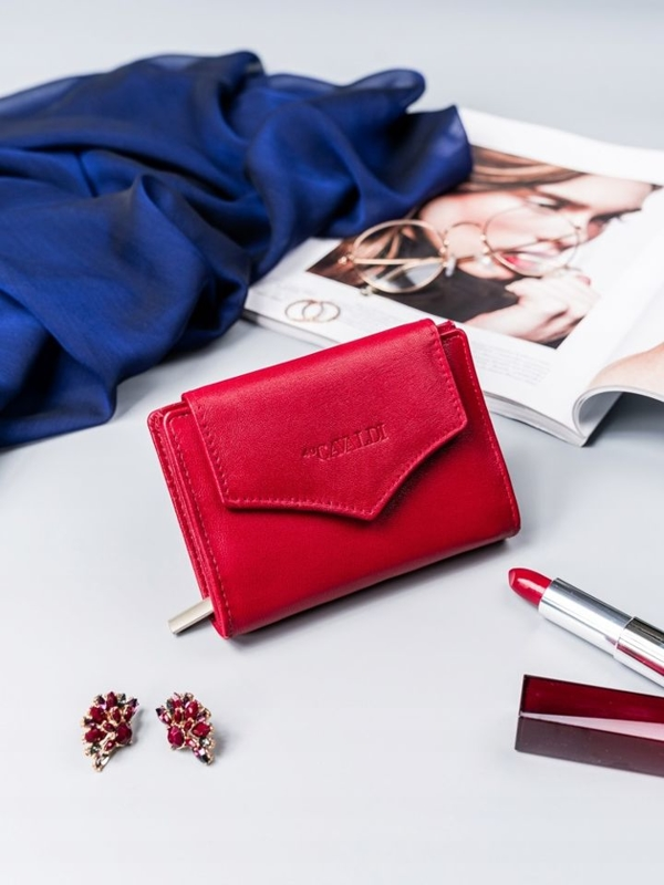 Жіночий шкіряний гаманець червоний 2409