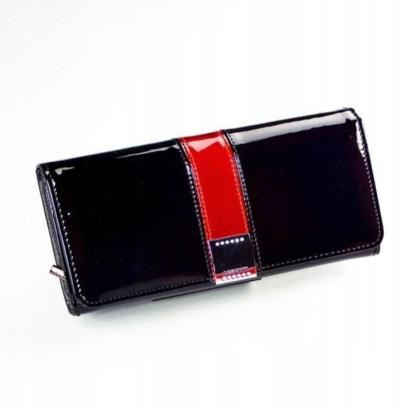 Жіночий шкіряний гаманець чорний 1166