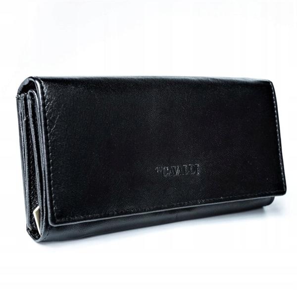 Жіночий шкіряний гаманець чорний 2773