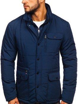 Куртка чоловіча демісезонна елегантна темно-синя Bolf 1976