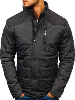 Чоловіча зимова куртка графітова Bolf AB065