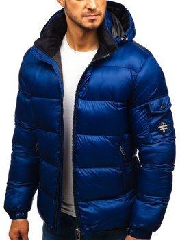 Чоловіча зимова куртка темно-синя Bolf AB64