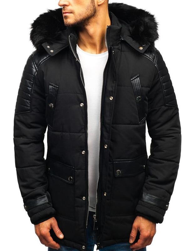 Чоловіча зимова куртка чорна Bolf 88852