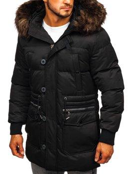 Чоловіча зимова куртка чорна Bolf 99116