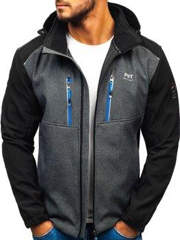 Чоловіча куртка софтшелл графітова Bolf AB141