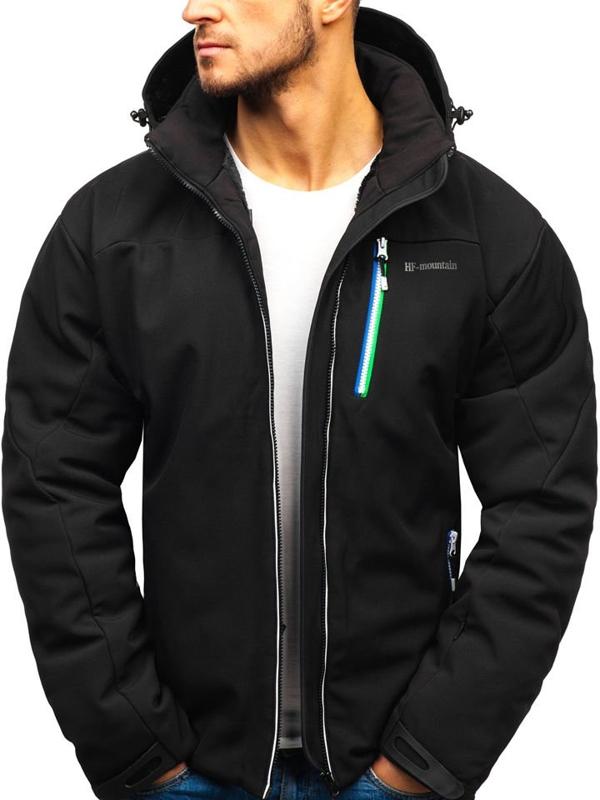 Чоловіча лижна куртка чорна Bolf 1521