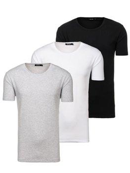 Чоловіча футболка без принта мультиколор 3 Pack Bolf 798081-3p