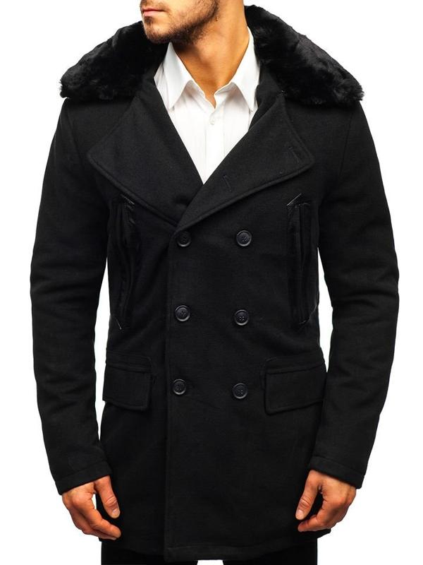 Чоловіче зимове пальто чорне Bolf 88872