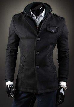 Чоловіче пальто чорне Bolf 8853B