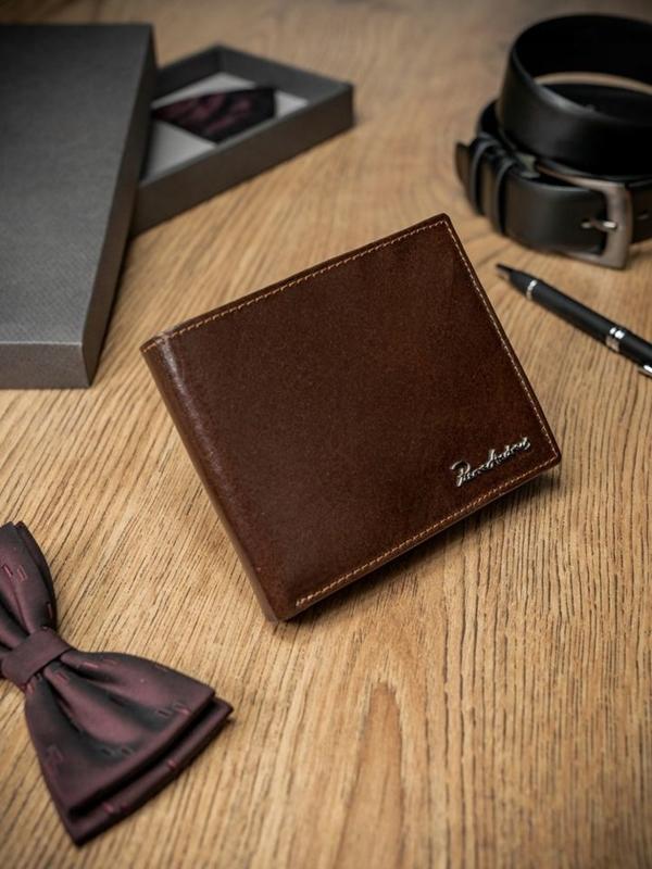 Чоловічий гаманець шкіряний коричневий 1686