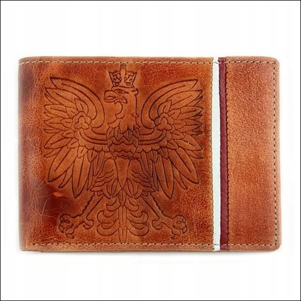 Чоловічий гаманець шкіряний світло-коричневий 676