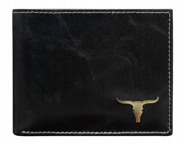 Чоловічий гаманець шкіряний чорний 37