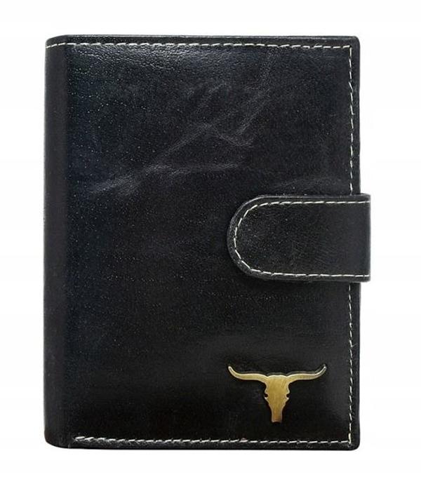 Чоловічий гаманець шкіряний чорний 41