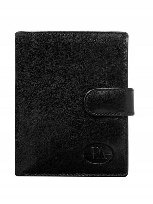 Чоловічий гаманець шкіряний чорний 74