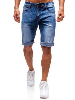 Чоловічі джинсові шорти сині Bolf 7807