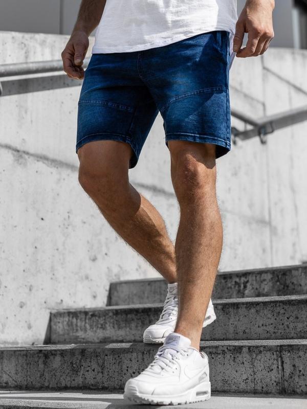 Чоловічі джинсові шорти темно-сині Bolf KK108