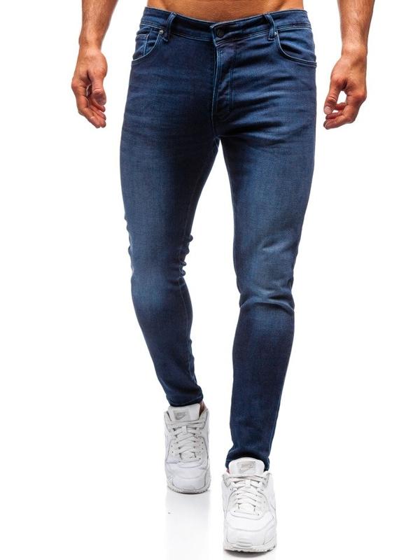 Чоловічі джинсові штани темно-сині Bolf 7163