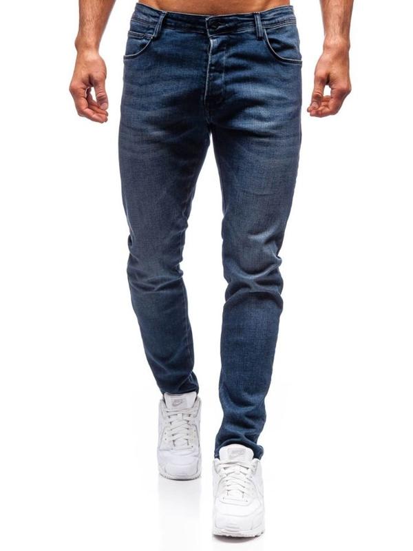 Чоловічі джинсові штани темно-сині Bolf 7165