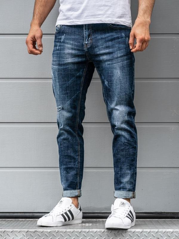 Чоловічі джинсові штани темно-сині Bolf KX263