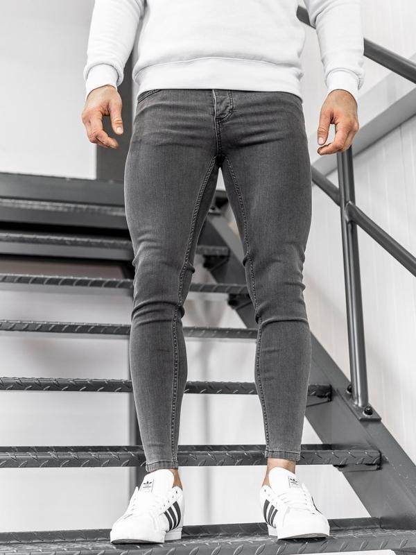 Чоловічі джинсові штани чорні Bolf 1088