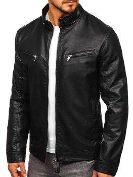 Чорна чоловіча куртка косуха Bolf 2010