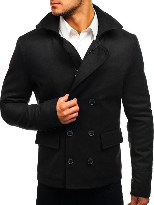 Чорне чоловіче коротке зимове пальто Bolf 3130