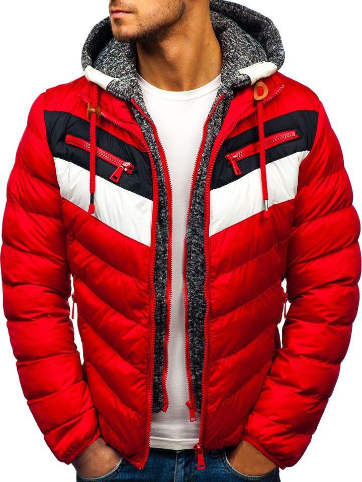 Чоловіча зимова куртка червона Bolf A117 ЧЕРВОНИЙ b202e2d0ec9d6