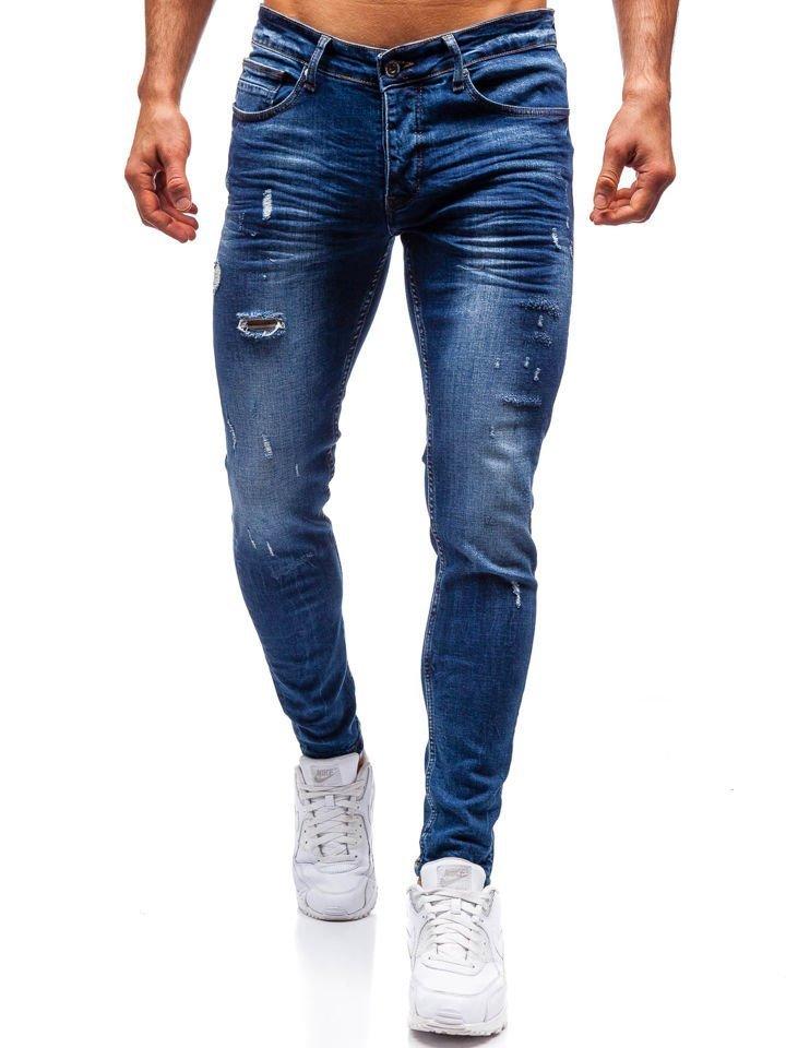 Чоловічі джинсові штани темно-сині Bolf 1016 7a0523eb73b30