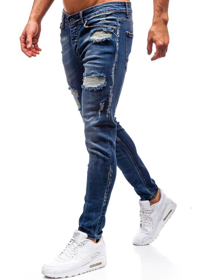 Чоловічі джинсові штани темно-сині Bolf 1020 95c87611eee72